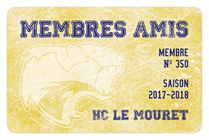 Carte membre ami HCLM